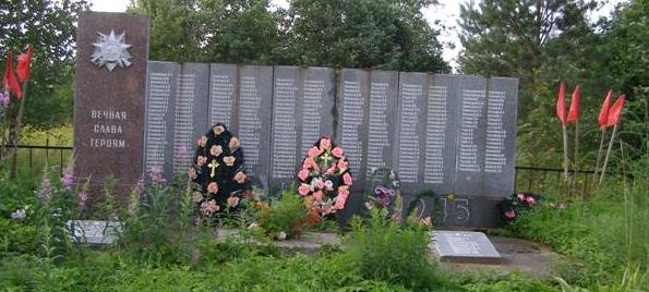 д. Залужанье Молоковского р-на. Памятник погибшим землякам, установленный в 1980 году.