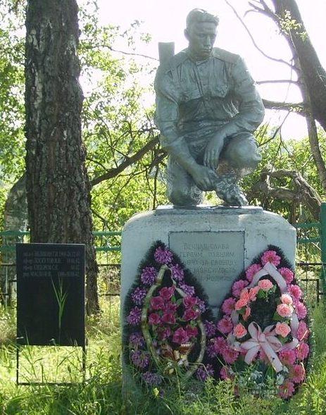 д. Озерки Зубцовского р-на. Памятник, установленный на братской могиле советских воинов.