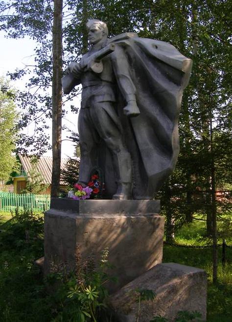 д. Кузнецово Молоковского р-на. Памятник погибшим землякам, установленный в 1980 году.