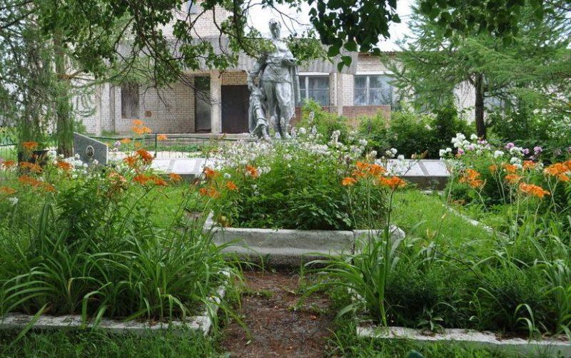 д. Раково Зубцовского р-на. Памятник, установленный на братской могиле советских воинов.