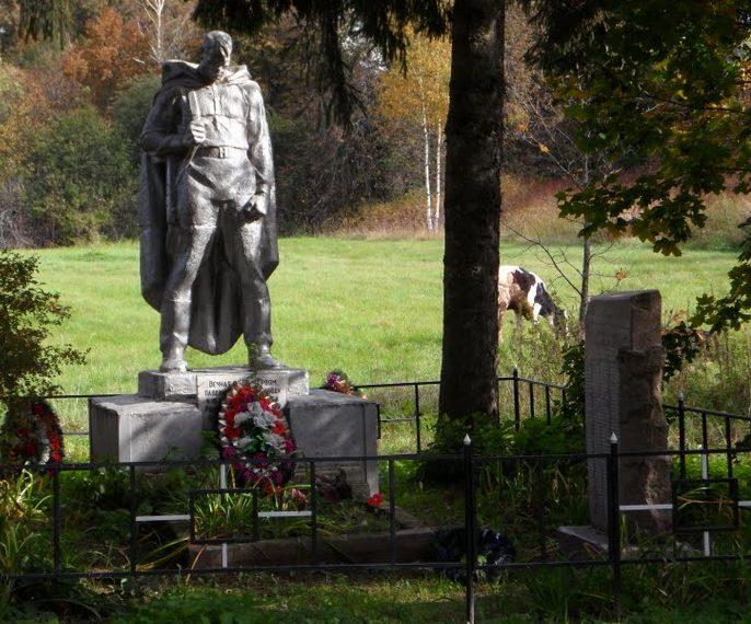 д. Новое Старицкого р-на. Памятник, установленный на братской могиле советских воинов.
