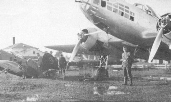 Бобруйский военный аэродром, захваченный немцами. Июнь 1941 г.