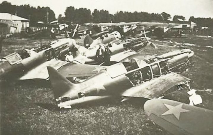 Захваченный немцами аэродром в Мелитополе. 1941 г.