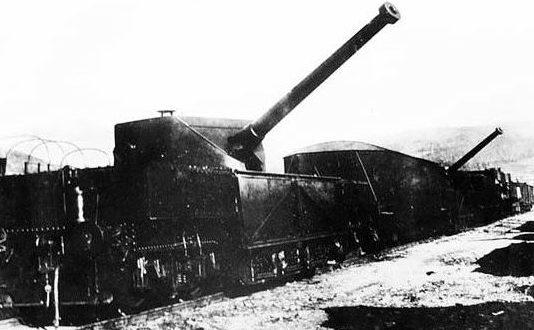 152,4-мм железнодорожная установка ТМ-1-152 (Б-64). 1941 г.