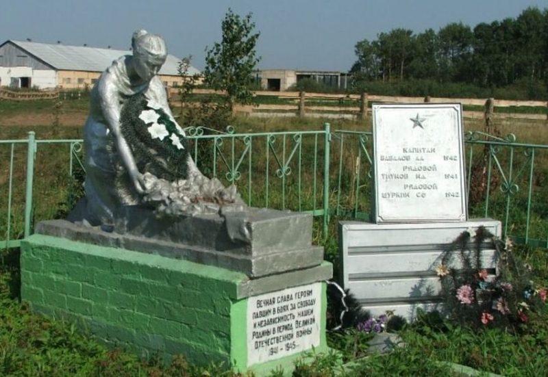 д. Сидорово Старицкого р-на. Братская могила советских воинов.