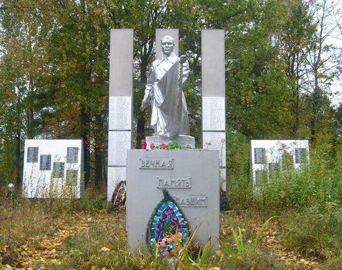 д. Талухино Нелидовского городского округа. Памятник, установленный на братской могиле, в которой похоронены советские воины.