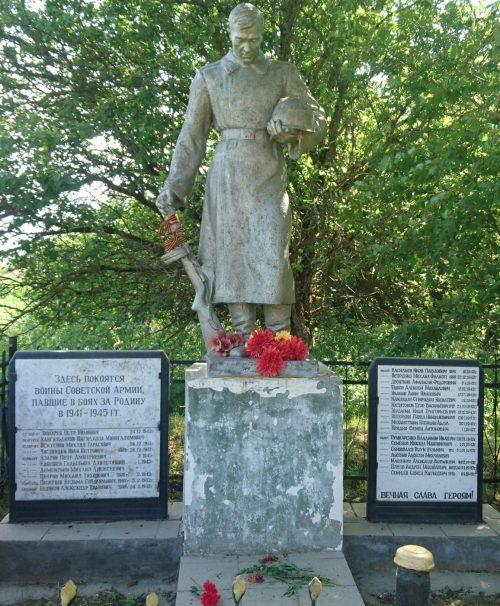 д. Конышково Торжокского р-на. Памятник, установленный на братской могиле советских воинов.