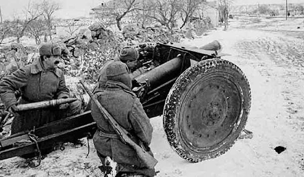 76-мм полковая пушка. Январь 1943 г.