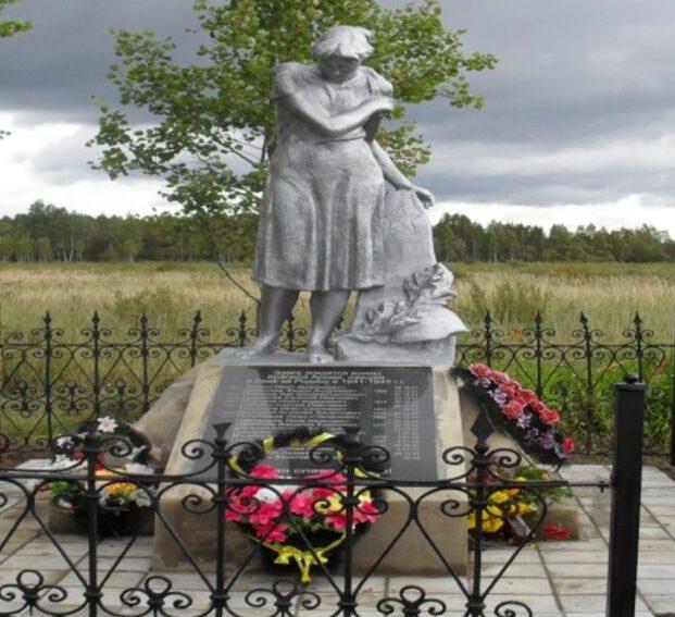 д. Пестово Торжокского р-на. Братская могила советских воинов.