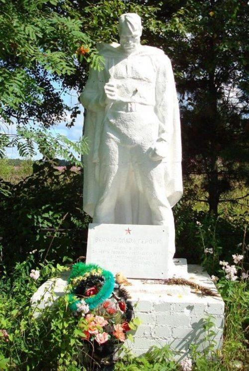 д. Урдом Оленинского округа. Братская могила советских воинов.