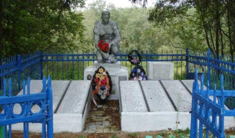 д. Хлебники Оленинского округа. Братская могила советских воинов.