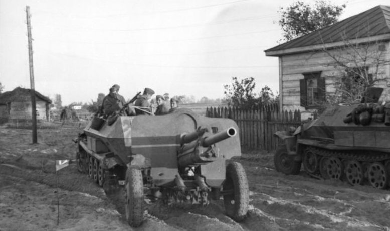 76-мм дивизионная пушка образца 1939 года (УСВ) на службе у немцев. Октябрь 1943 г.