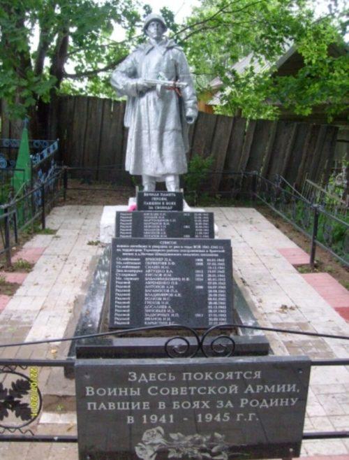 д. Наговье Торопецкого р-на. Памятник, установленный на братской могиле советских воинов.