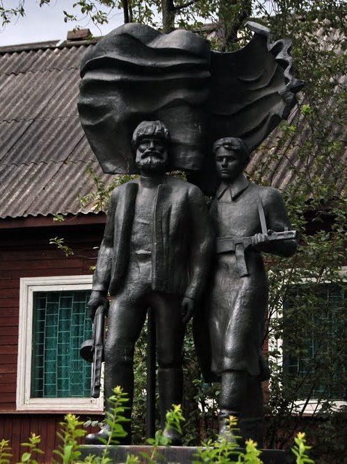 д. Пожня Торопецкого р-на. Памятник партизанам.