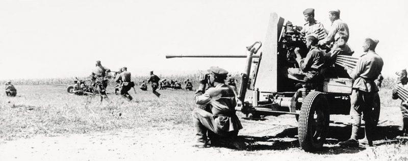 МЗА (легкое зенитное орудие) 61-К со щитом. 1943 г.