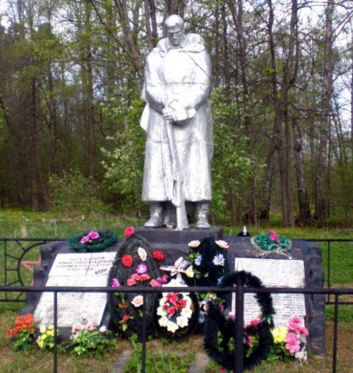 д. Страшевичи Торопецкого р-на. Памятник, установленный на братской могиле советских воинов.