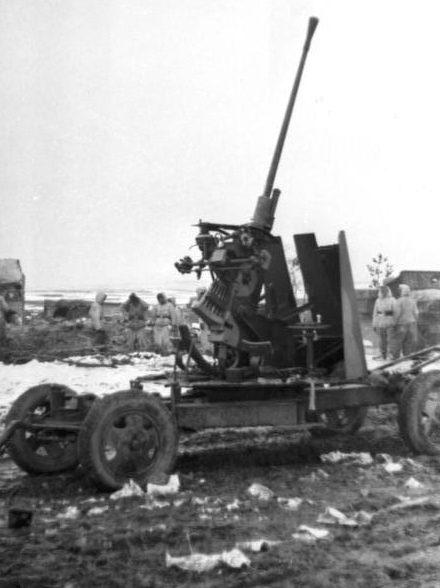37-мм автоматическая зенитная пушка 61-К на службе Вермахта. Март 1944 г.