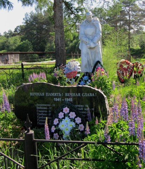 д. Копачево Удомельского городского округа. Памятник, установленный на братской могиле советских воинов.