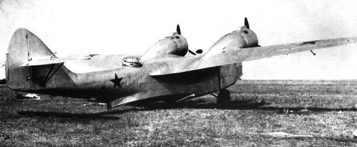 Гидросамолет МДР-6 в сухопутном варианте. 1943 г.