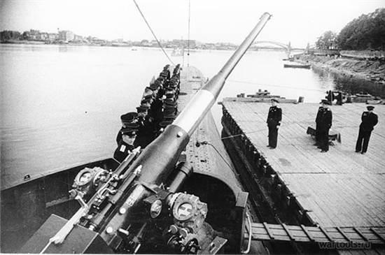 100-мм корабельная пушка образца 1936 года (Б-24). 1944 г.