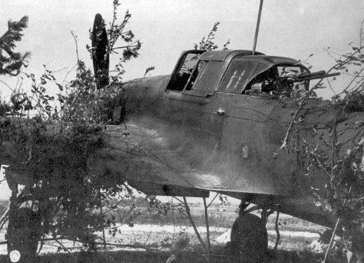 2-местный штурмовик Ил-2 на стоянке. 1943 г.
