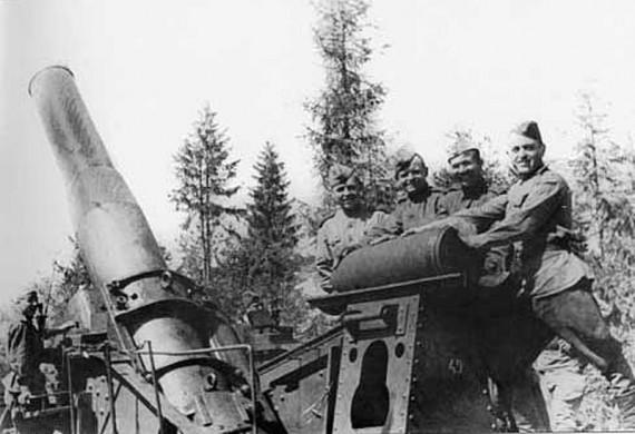 305-мм гаубица образца 1915 года. 1944 г.