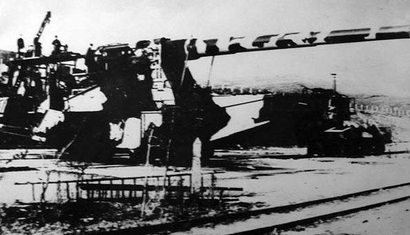 356-мм железнодорожная артиллерийская установка ТМ-1-14. Дальний восток, 1944 г.