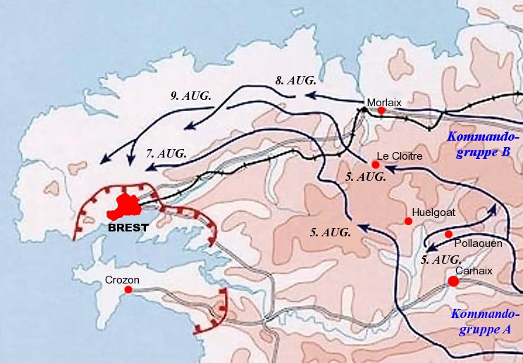 Карта-схема захвата Бреста.