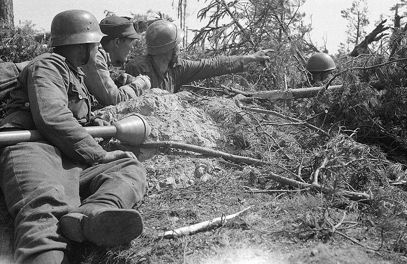 Финские войска в обороне.