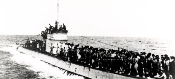 Спасенные с Лаконии на подлодке U156.