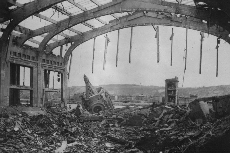 Разрушения в Шербуре.