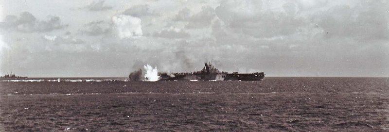 Атака на американский авианосец «Bunker Hill».