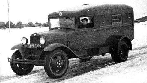 ГАЗ-55 (М-55) - санитарный автомобиль на шасси грузовика ГАЗ-ММ. 1940 г.