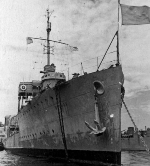 Эскадренный миноносец «Шаумян». 1940 г.