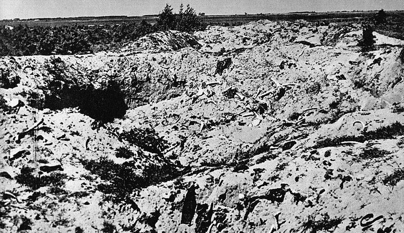 Захоронение в Треблинке после раскопок копателей. Лето 1945 г.