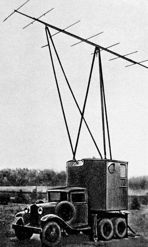 Радиолокационная станция «Редут-40» в поворотном фургоне на базе ГАЗ-ААА, 1940 г.