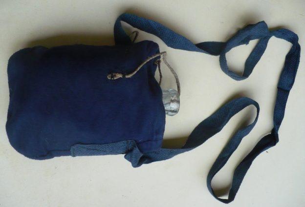 Стеклянные фляги в чехле с через плечной перевязью.