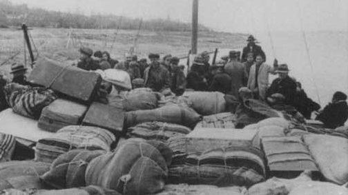 Депортации евреев из Фракии в лагерь смерти Треблинка. Лом, Болгария, март 1943 г.