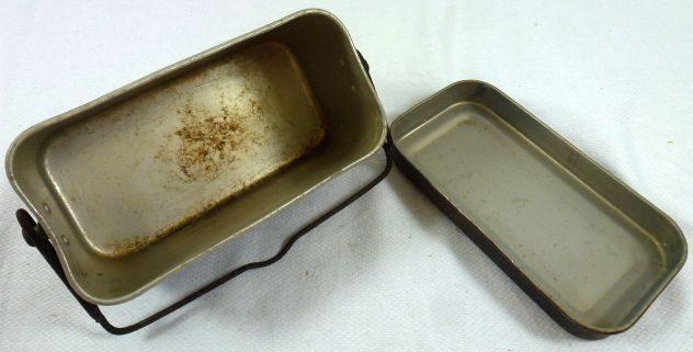 Офицерский прямоугольный алюминиевый котелок.