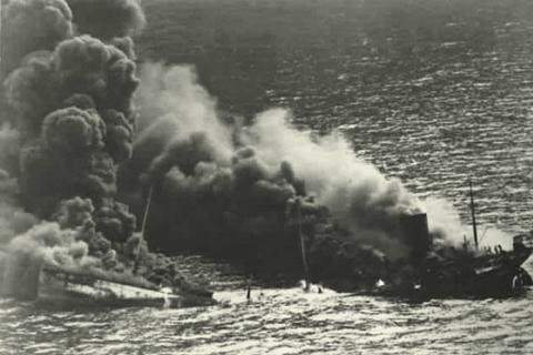 Гибель кораблей во время Таллиннского перехода. Август 1941 г.
