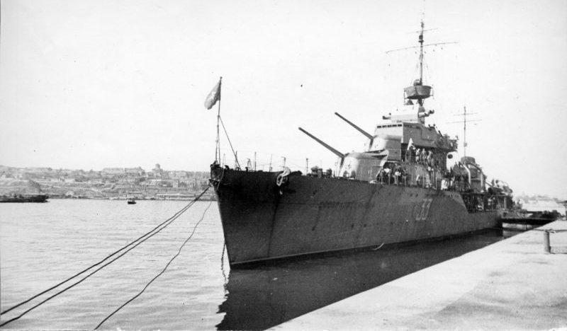 Эсминец Черноморского флота «Сообразительный». Севастополь 1941 г.