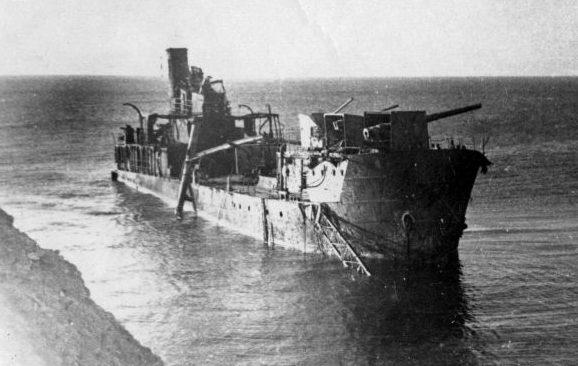 Канонерская лодка «Красная Грузия», потопленная у поселка Мысхако. Март 1943 г.