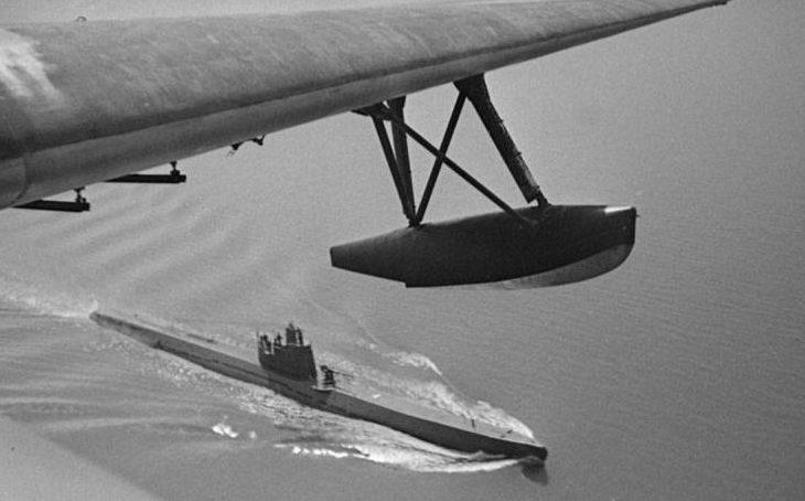 Подлодка Черноморского флота Л-23 возвращается боевого похода. Май 1943 г.