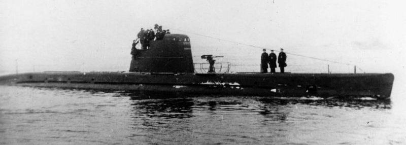 Подводная лодка М-104 в море. 1943 г.