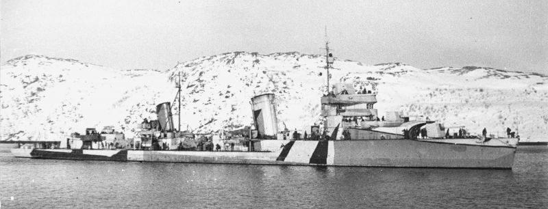 Эсминец «Баку» в составе Северного флота. 1943 г.