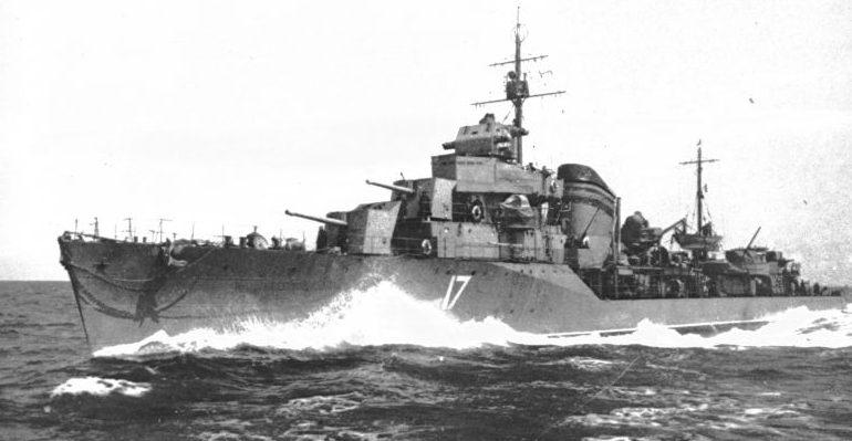 Эсминец Черноморского флота «Беспощадный» в походе. 1943 г.