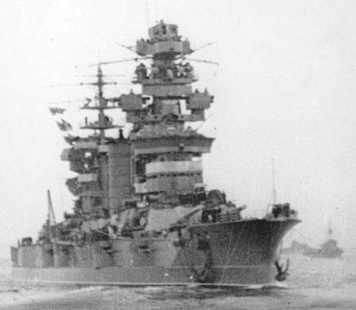 Линкор «Севастополь» возвращается в освобожденный Севастополь. Ноябрь 1944 г.