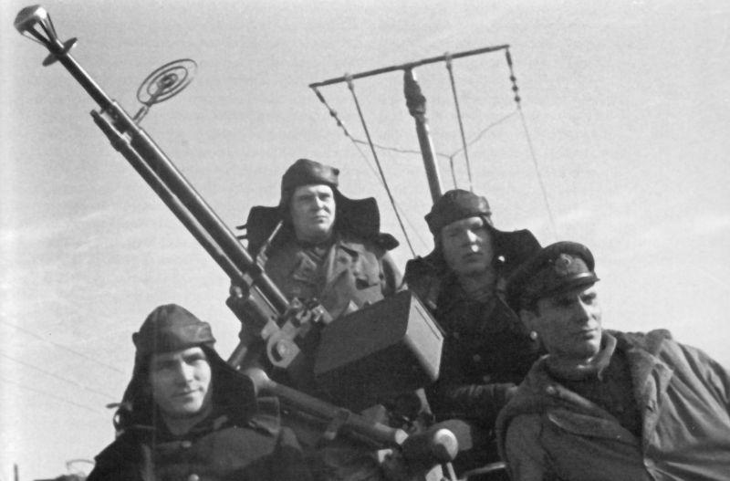 Члены экипажа торпедного катера ТК-684 Краснознаменного Балтийского флота. 1944 г.