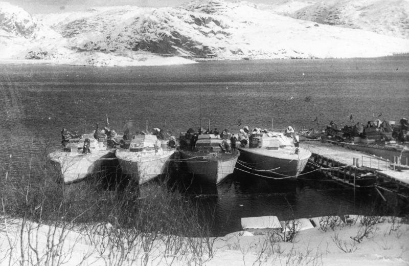 Торпедные катера Северного флота типа A-2 «Хиггинс». 1944 г.