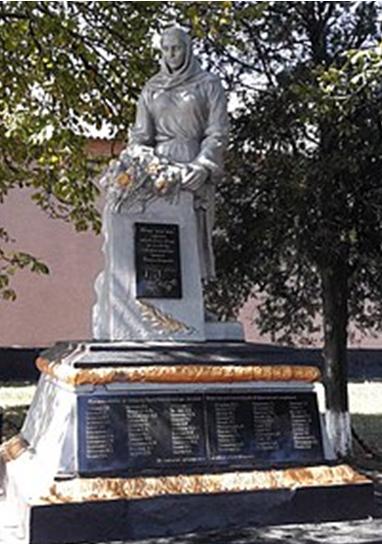 с. Степановка Криничанского р-на. Памятник, установленный на братской могиле, в которой похоронен 61 советский воин, погибший при освобождении сел Новоселовка и Степановка 22-25 октября 1943 г.